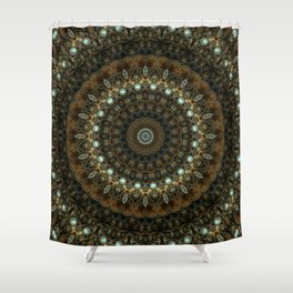 Jewels and Copper Shower Curtain