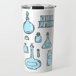 Potions Bottles Design — Apothecary Glass Jars Illustration Travel Mug