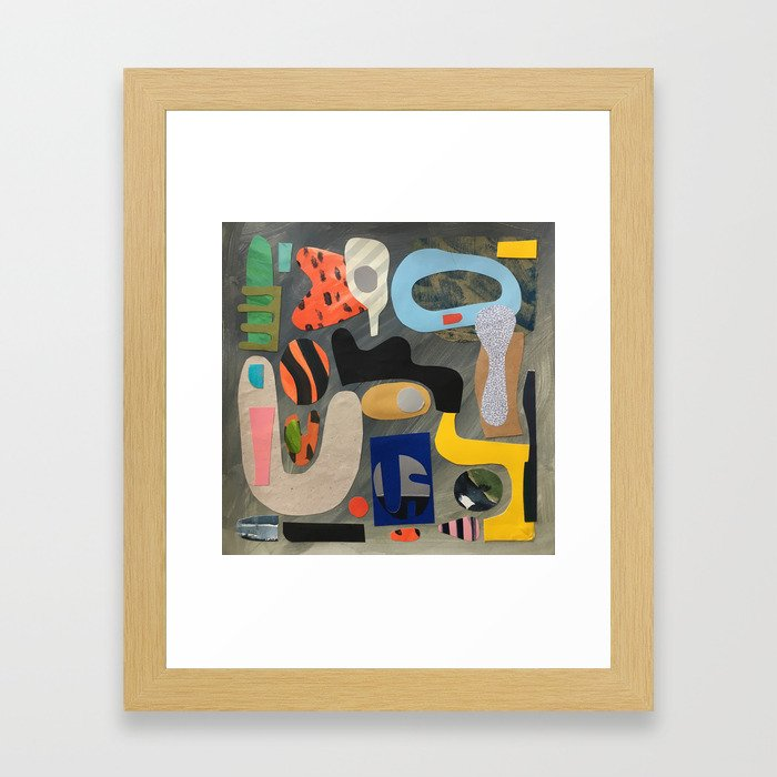 Hand Mirror Framed Art Print