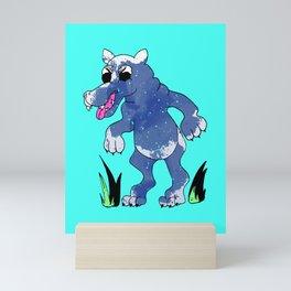 Speckled Wolf Mini Art Print