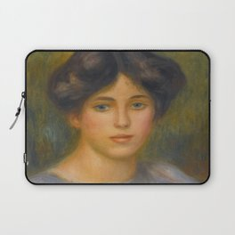 """Auguste Renoir """"Jeune fille aux roses (Young girl with flowers)"""" Laptop Sleeve"""