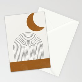 Moon by the city Stationery Cards