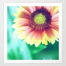 Fantasy Garden - Sunny Flower Art Print