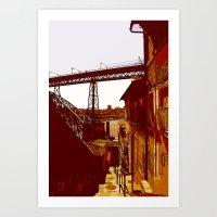 escada dos guindais Art Print