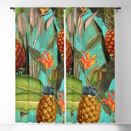 Vintage & Shabby Chic - Pineapple Tropical Garden Blackout Curtain