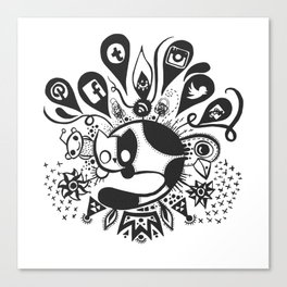 Social Cat Canvas Print