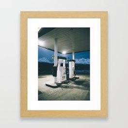 Yukon Gas Station Framed Art Print
