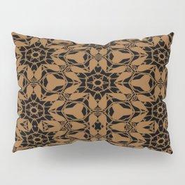 Black and Bronze Petals 2676 Pillow Sham