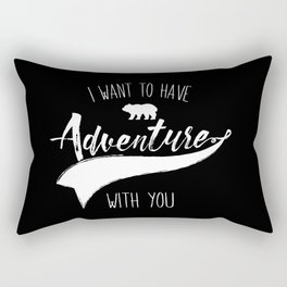 Adventure quote 1 Rectangular Pillow