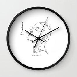smoking man Wall Clock