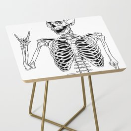 Rock and Roll Skeleton Side Table