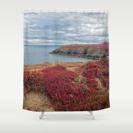 Irish Pomegranate Coast Shower Curtain