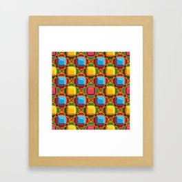 Pattern with diamonds Framed Art Print