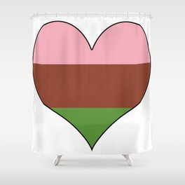 Gynesexual Heart Shower Curtain