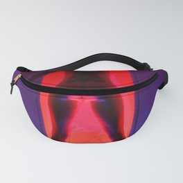 0056-JK Open Portal Passage in Blue and Red Hot Woman Fanny Pack
