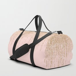 Luxury Blush Pink Gold Sparkly Glitter Fringe Duffle Bag