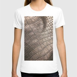 Elegant leather pattern close up. Good for fashion, furniture, textile, apparel, abstract or interior design. T-shirt