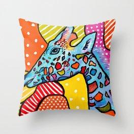 Colorful Giraffe Throw Pillow