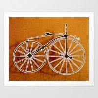 bike Art Prints featuring Bike by CrismanArt