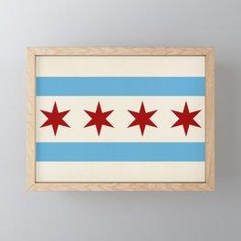 Chicago Flag II Framed Mini Art Print