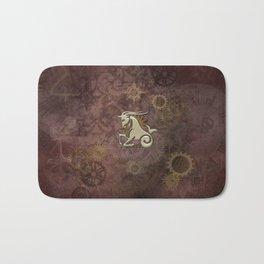 Steampunk Zodiac  Capricorn Bath Mat