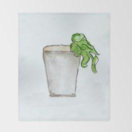 Mint Julep watercolor, Kentucky Derby, Handpainted, Cocktail Throw Blanket