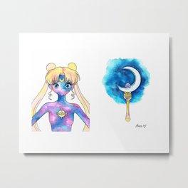Crystal Moon Power Metal Print