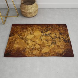 Old World Map Low Poly Geometric Triangles Rug