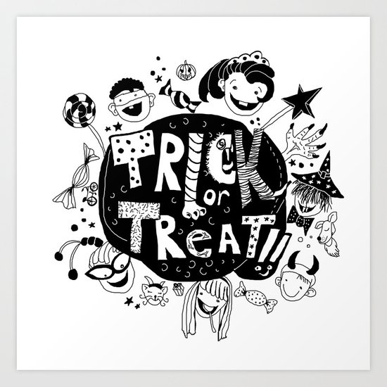 For Halloween - Trick or treat Art Print