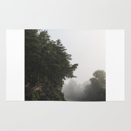 Roadway in Georgia #fog #nature #scene Rug