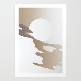 Coffee Milk Eternity Art Print