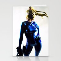 samus Stationery Cards featuring Samus by Pauline French
