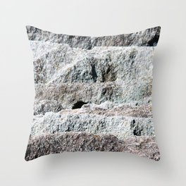 Slate Layers Throw Pillow