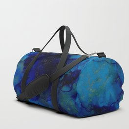 NEW Alcohol Ink Deep Blue Trip I Duffle Bag