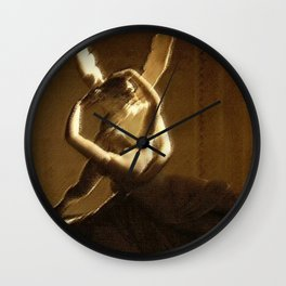 Psyche Revived Sunlight and Cupid's Kiss Portrait by Jéanpaul Ferro Wall Clock