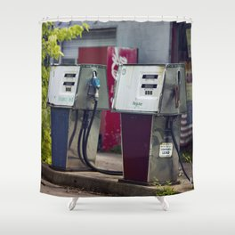 Service Stations of the Past Shower Curtain