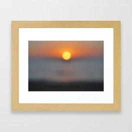 the sun, the sea and the sand Framed Art Print
