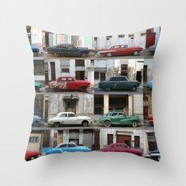 Cuba Cars - Horizontal Throw Pillow