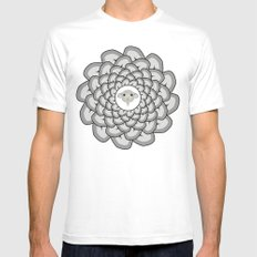 Sheep Ear Art - 2 MEDIUM Mens Fitted Tee White