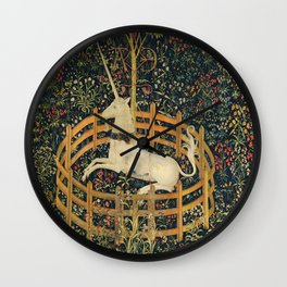 The Unicorn in Captivity (from the Unicorn Tapestries) 1495–1505 Wall Clock