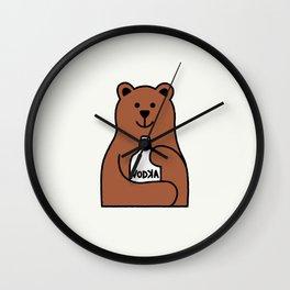 Alcoholic Teddy Wall Clock