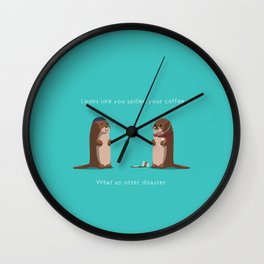 What an otter disaster Wall Clock
