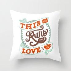 Love & Coffee Throw Pillow