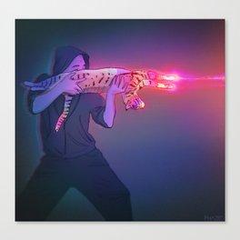 Cat Gun Canvas Print