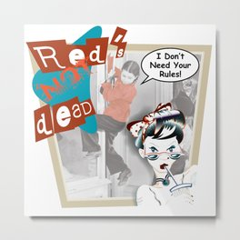 Red's Not Ded Metal Print
