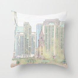 Lackawanna - Hoboken Terminal Throw Pillow