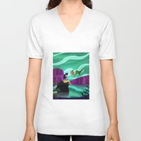 peter pan V-neck T-shirts featuring Peter Pan by enosay