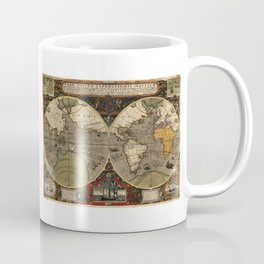 1595 Vera Totius Expeditionis Nauticae - Map of Sir Francis Drake's Circumnavigation of the Globe Coffee Mug