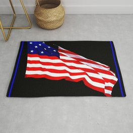 These Colors Never Run - American Flag Patriotic, Red White & Blue, Stars & Stripes, Old Glory Rug