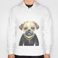 gangster Hoodies featuring Dog Gangster by Lucie Sperry